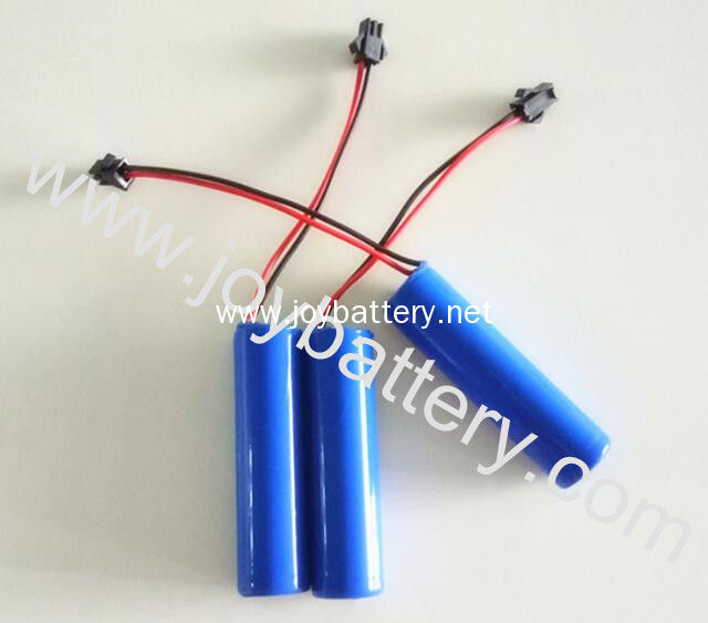 1S1P Rechargeable 3.7V 2.6AH 18650 battery pack Li-ion 18650 3.7V 2200~3500mAh 1S1P with PCM/wire